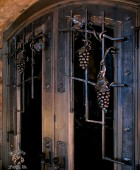 Wine Cellar Grill with Custom Forged Hardware (Detail)  #6