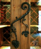 Forged Wine Cellar Door Pull with Hand Forged Grapes  #14