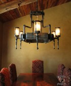 Arts and Crafts Style Chandelier