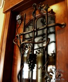 Wine Cellar Door Grill with Forged Metal Grapes #3