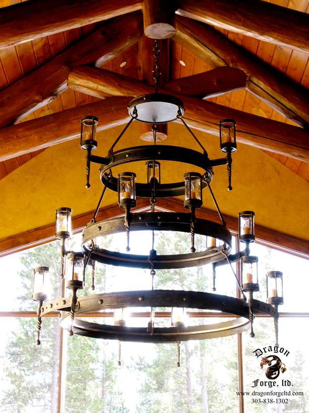 American craftsman style chandelier dragon forge colorado american craftsman style chandelier aloadofball Gallery