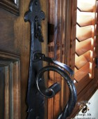 "Custom Forged Front Door ""S"" Scrolls Details  #5"