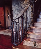 Hand Forged American Craftsman Style Railing with Desending Volute