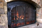 Forged Fireplace Doors with Forged Off-set and Copper Panel