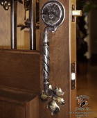Forged Wine Cellar Door Pull with Dead Bolt #2