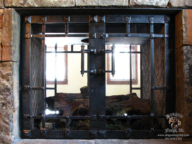 Fireplace Doors For Sealed Fire Box Dragon Forge Colorado