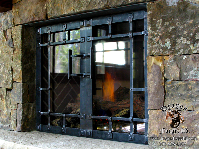 Fireplace Doors For A Sealed Fire Box Dragon Forge Colorado