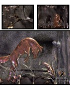 Leaping Copper Foxes Fireplace Doors (details)