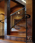 American Craftsman Style Double Volute Railing