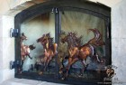 Running Horses Forged Copper Bronze Brass and Steel