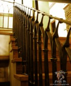 Craftsman Style Railing with Slit and Drift Pass Through