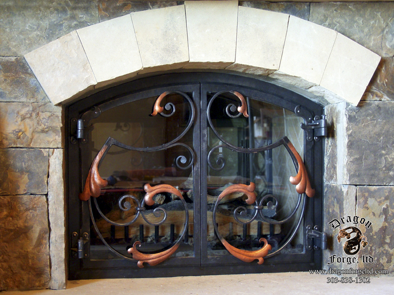 hand forged fireplace screen. Acanthus Hand Forged Metal Fireplace Doors Zoom in Read more  Dragon Forge Colorado Blacksmith Custom hand