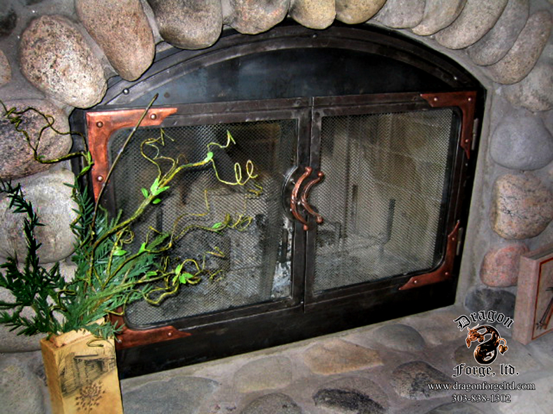 Fireplace Doors Dragon Forge Colorado Blacksmith Custom Hand