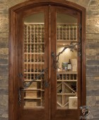 Wine Cellar Door with forged Vine feature  #11