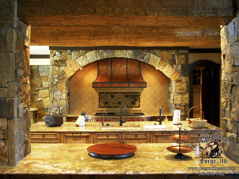 Convexed Kitchen Stove Hood Copper And Metal Zoom In Read More
