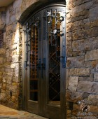 Wine Cellar Grill with Custom Forged Hardware  #7