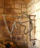 Colonial Reproduction of a Fireplace Crane