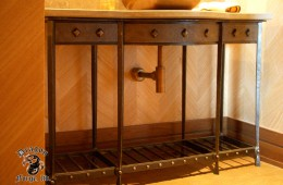 Craftsman Style Metal Sink Base