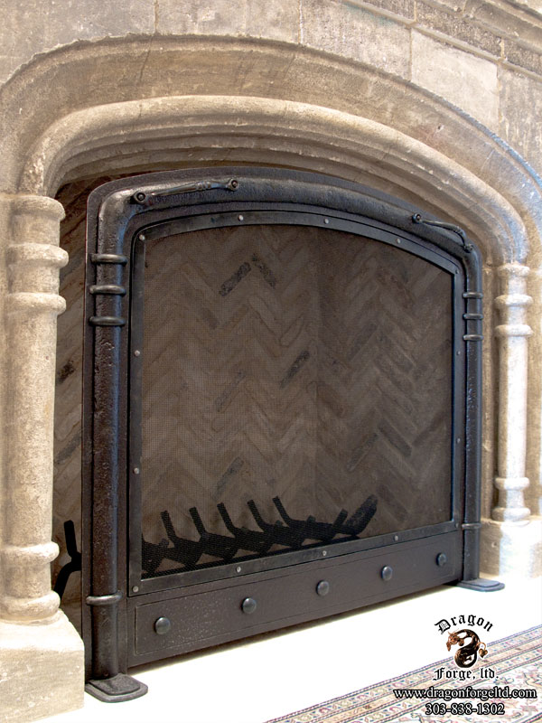 Fireplace Design arched fireplace screen : Fireplace Doors | Dragon Forge - Colorado Blacksmith - Custom hand ...