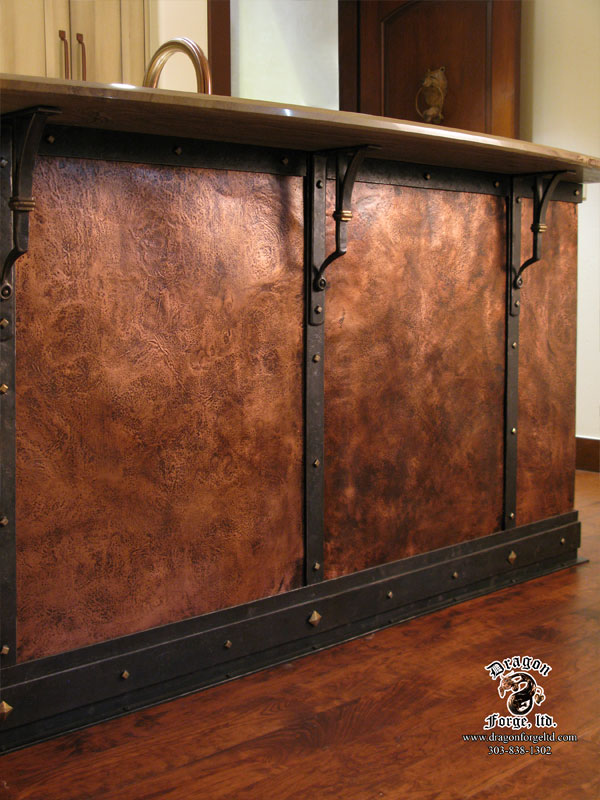 forged copper wall with mounts dragon forge colorado