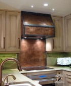 Copper Stove Hood with Copper Backsplash