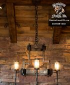 Whitefish Great Northern Lodge Staircase Chandelier