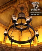 GNL Whitefish Tower Room Forged Chandelier