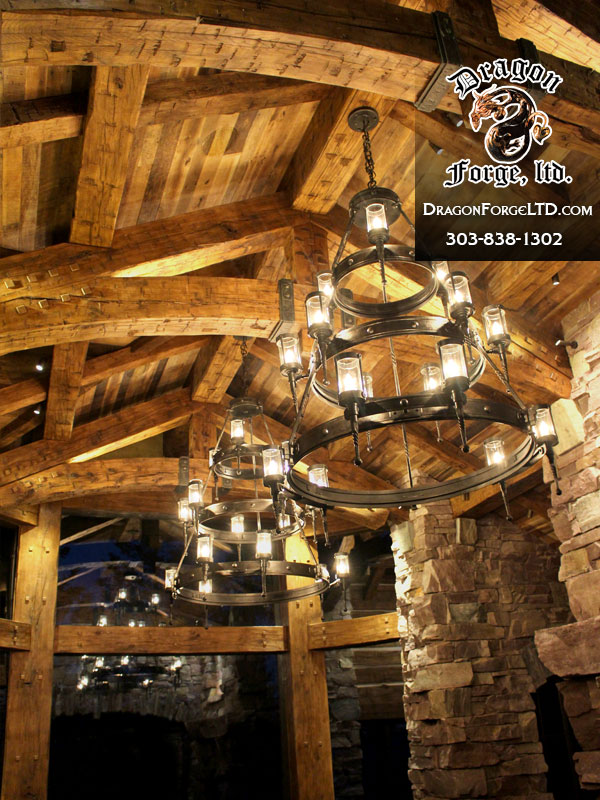 Great-Northern-Lodge-modern-rustic-chandelier-Dragon-Forge-Montana-Blacksmith