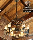 Great Northern Lodge Kitchen Chandelier
