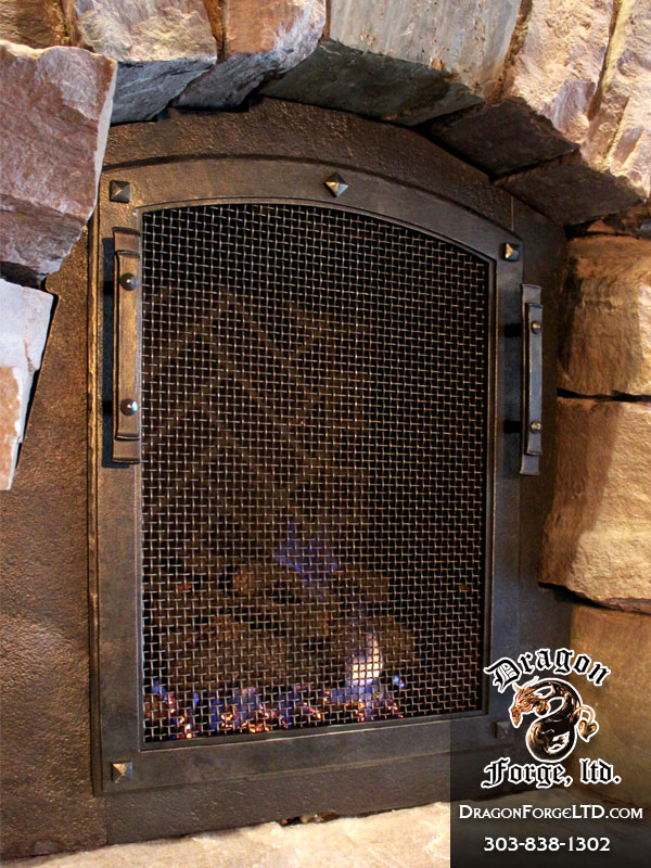 Gnl Hallway Fireplace Door Forged By Dragon Forge Ltd Dragon Forge